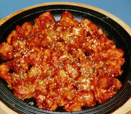 韓国エスコートアガシと韓国料理 プルタク